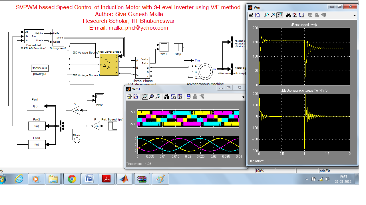 Svpwm Based Speed Control Of Induction Motor With 3 Level Inverter Using V F Method File