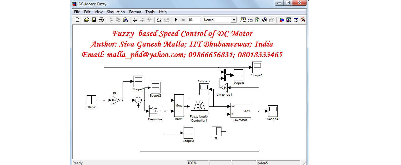 Speed control of dc motor using fuzzy logic thesis