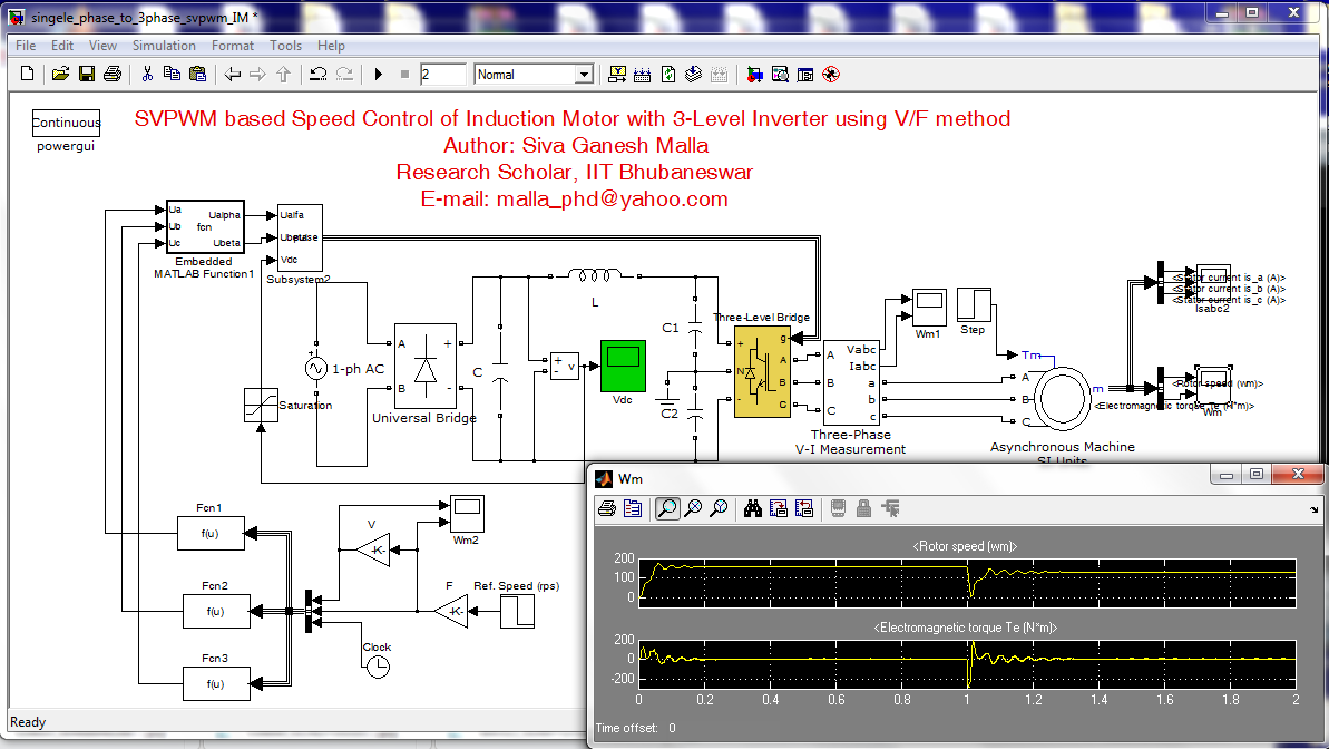 3 Phase Induction Motor Drive File Exchange Matlab Central