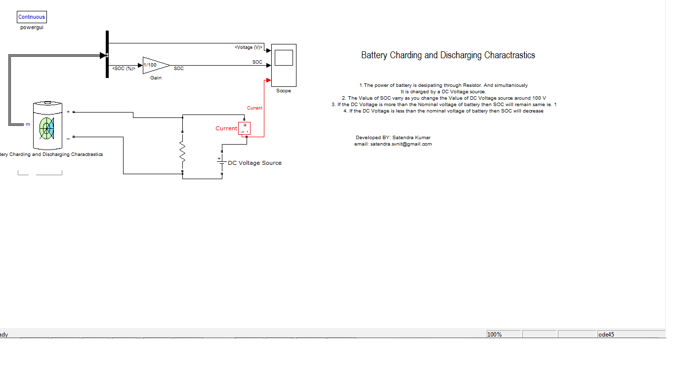 Battery Charging And Discharging Model File Exchange Matlab Central Usb Car Charger Circuit Diagram