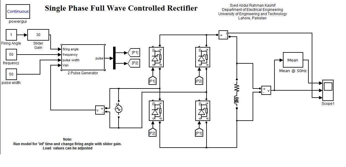 single phase full converter