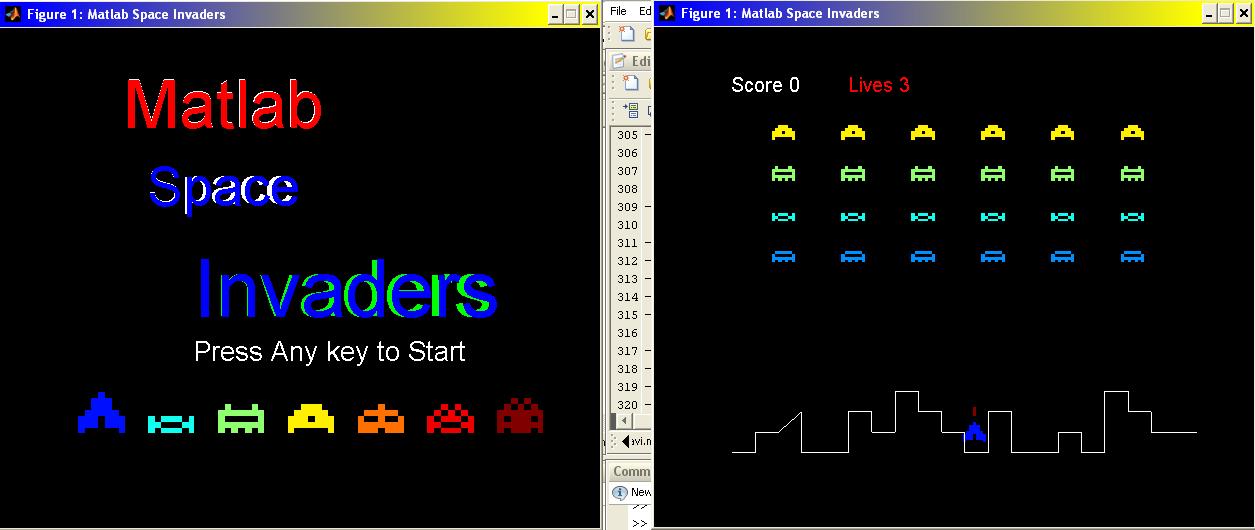 Matlab Space Invaders VideoGame - File Exchange - MATLAB Central