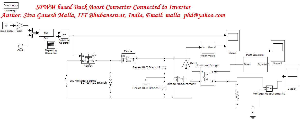 Inverter Connected Through Buck Boost Converter File