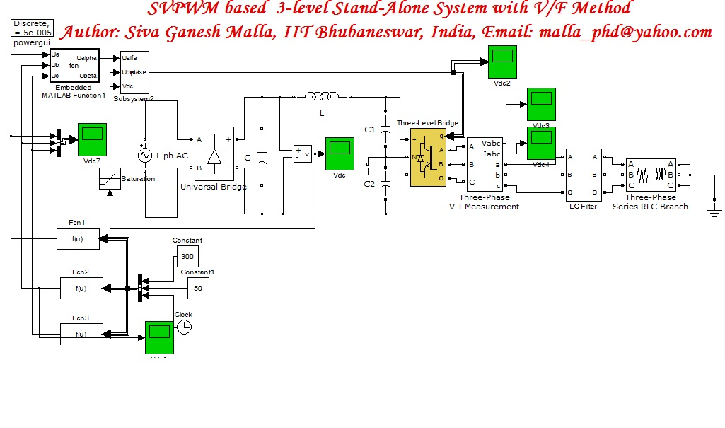SVPWM based single phase to three phase stand alone system