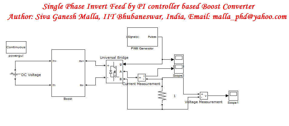 Single Phase Inverter Fed by Closed Loop Boost Converter - File