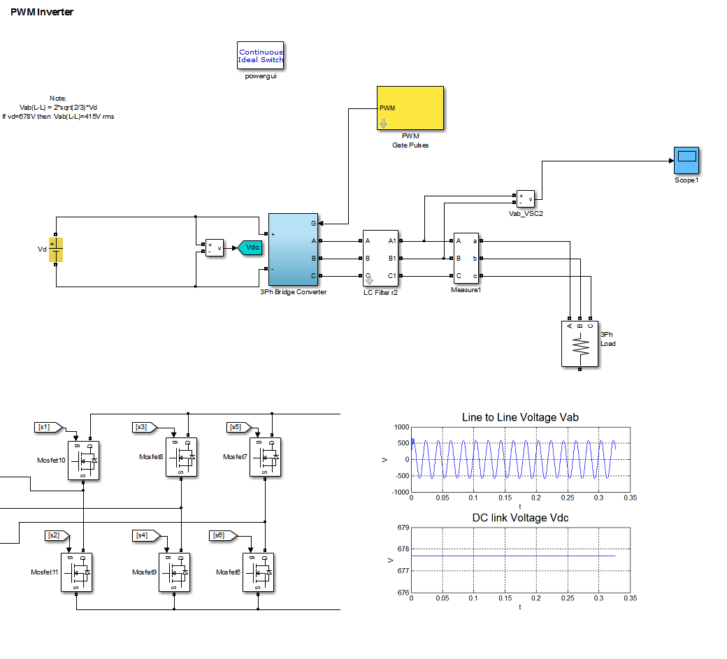 3 phase inverter file exchange matlab central Simple Inverter Block Diagram
