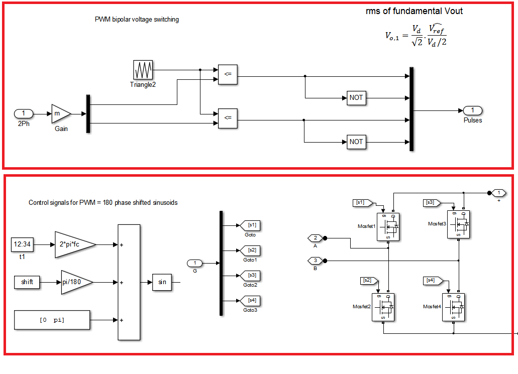 full bridge inverter with pwm - file exchange