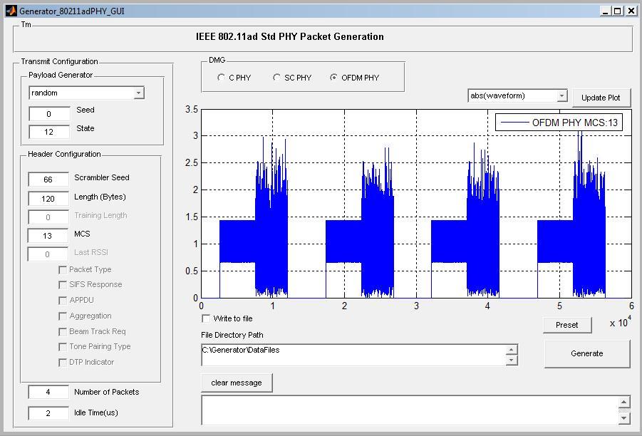 IEEE 802 11ad PHY Waveform Generation API - File Exchange