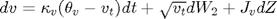 $dv=\kappa_v(\theta_v-v_t)dt+\sqrt{v_t}dW_2+J_vdZ$