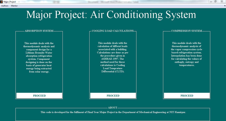 Cooling Load Calculations, Vapor Compression Refrigeration System