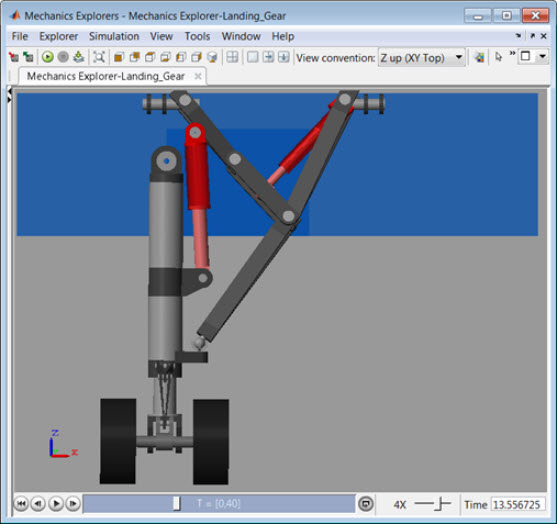 landing gear model in simscape - file exchange