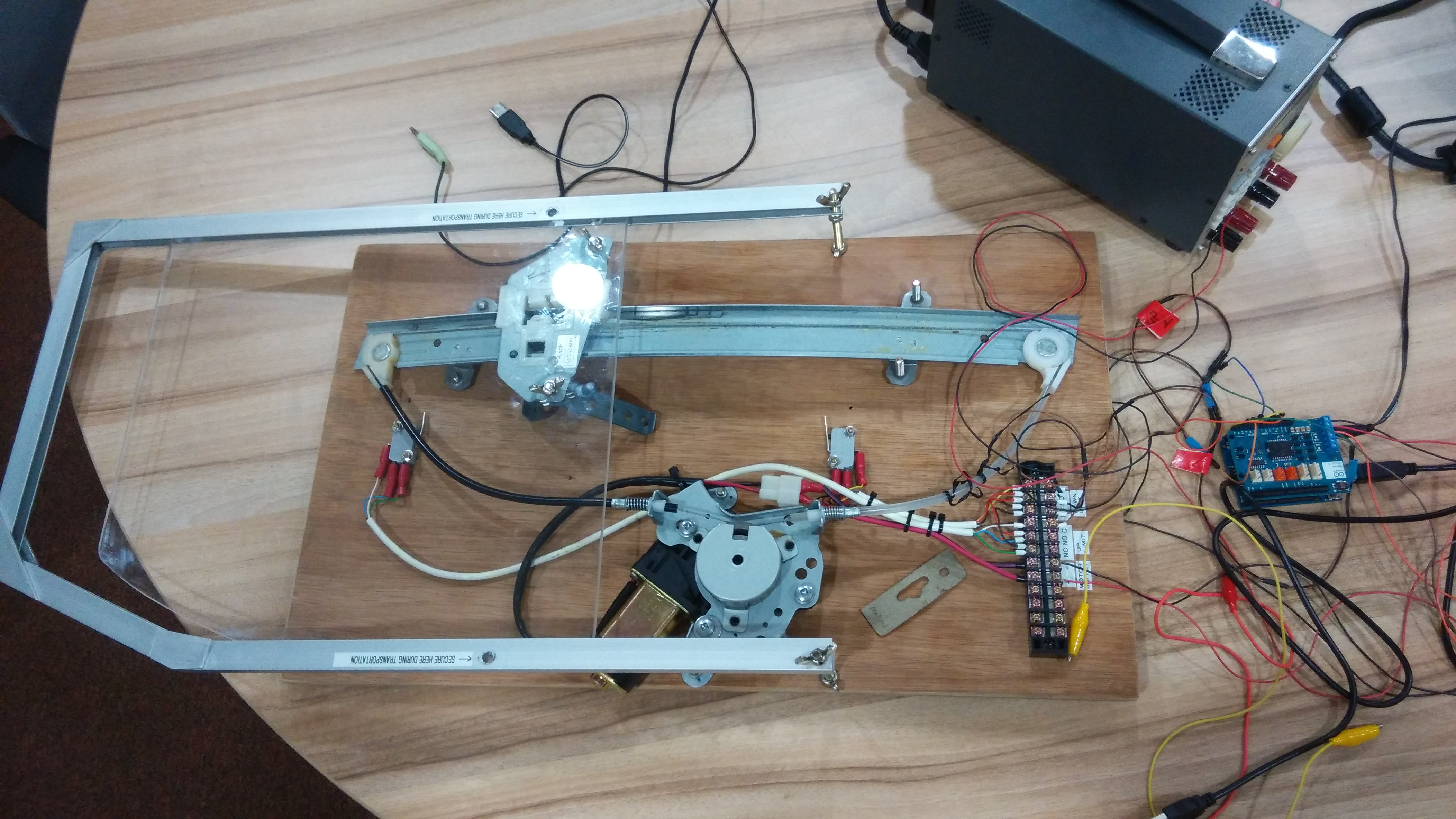 Power window control using arduino motor shield r file