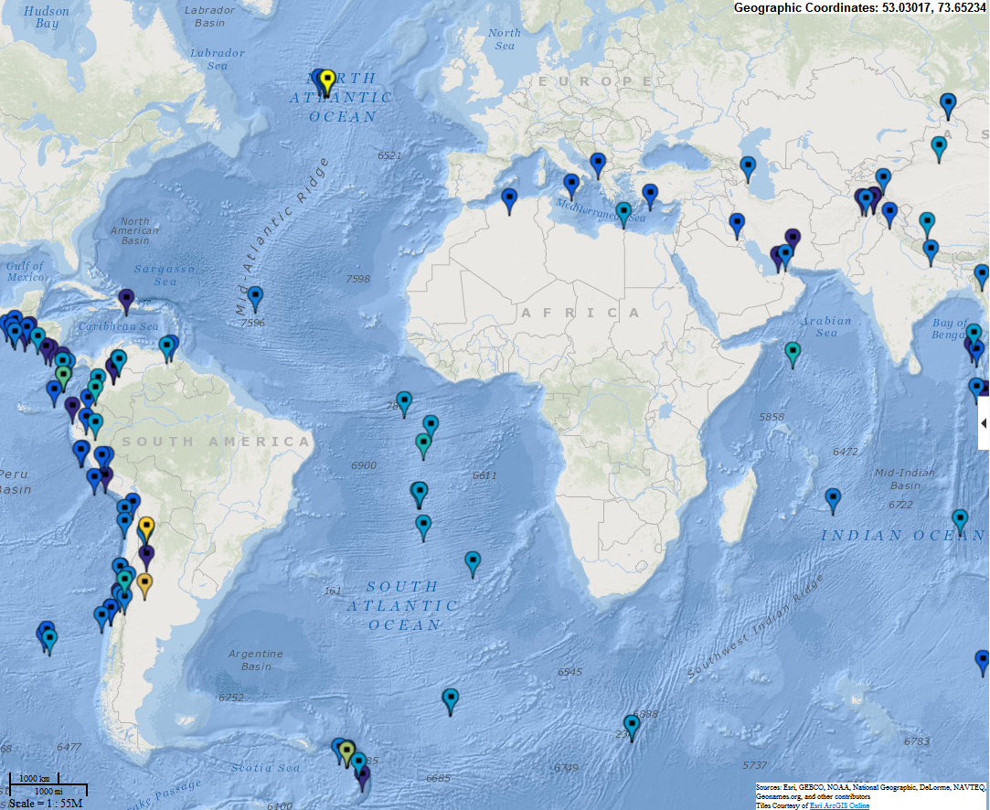 Map Recent Earthquakes