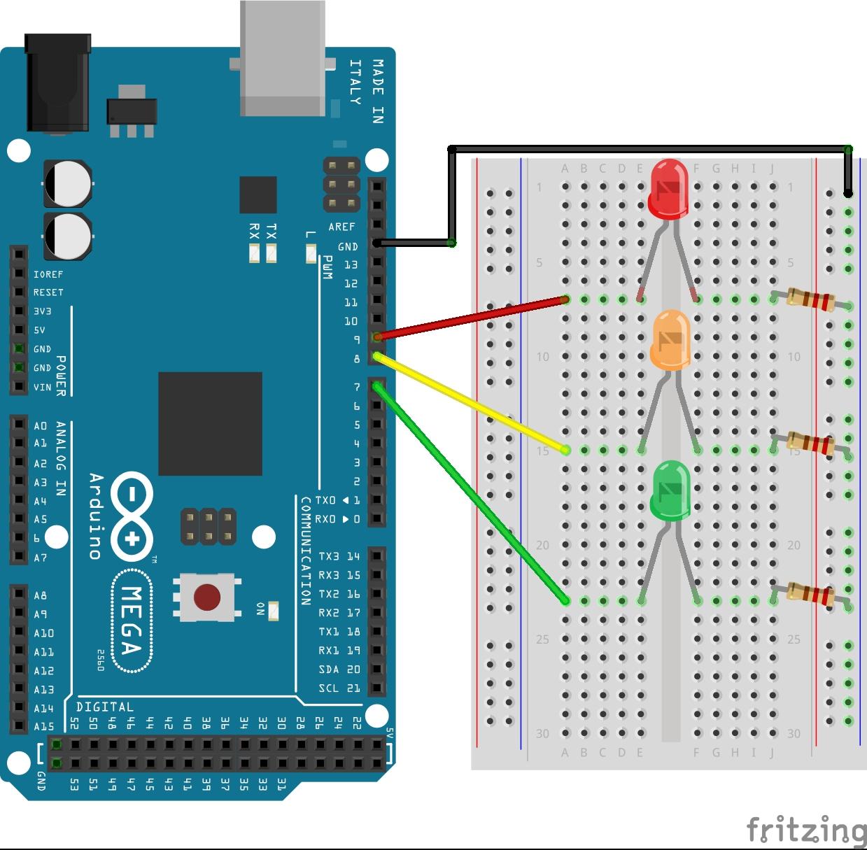 Traffic Light On Arduino Using Stateflow File Exchange