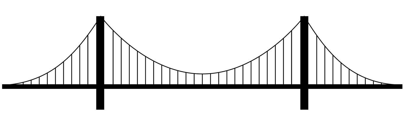 Static Analysis Suspension Bridge A Benchmark Solution