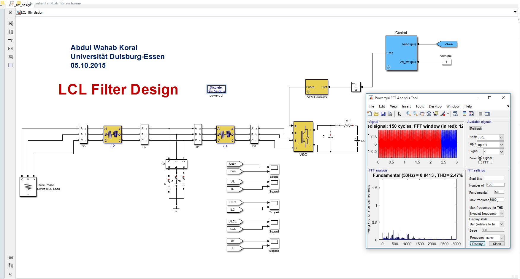 Lcl Filter Design Inlcuding The Current Control Tuning File Active And Passive Filters