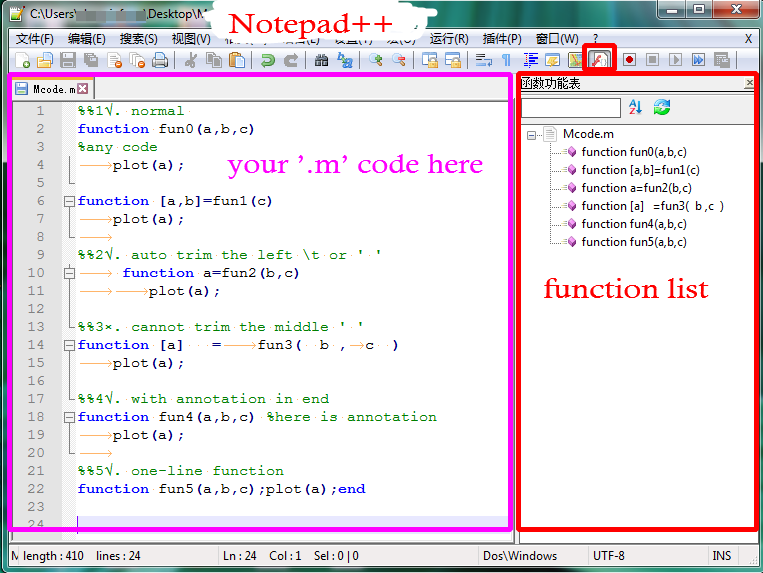 Notepad++ 'Function-list' for Matlab - File Exchange