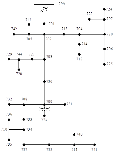 Linear load flow in power distribution systems - File