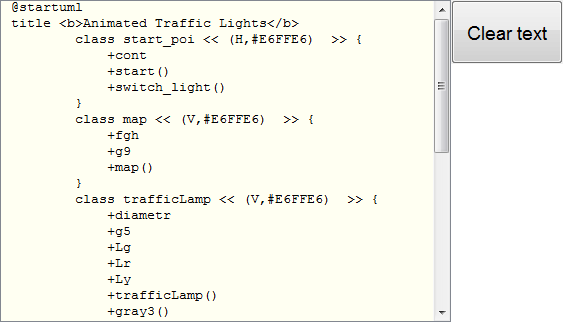 addpath( path_to_trafficsigns ) [~] = m2uml run( 'animated traffic lights'      , { 'start_poi' 'map' 'trafficlamp' 'tlamps' }, { 'start_poi -right->  map'