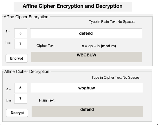 Affine Cipher Encryption / Decryption using MATLAB Guide