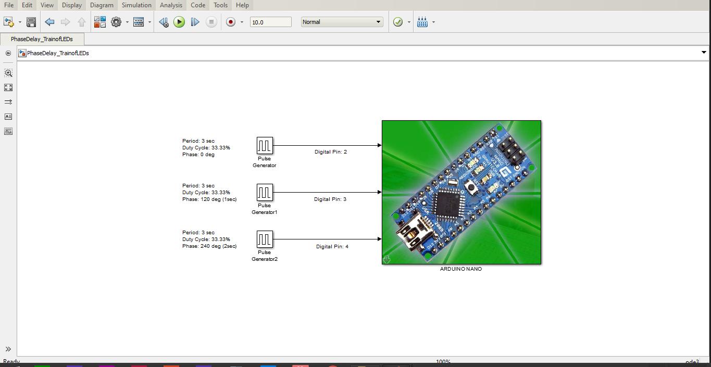Digital Output Pulse Generation using Arduino Nano V3 0 and Simulink