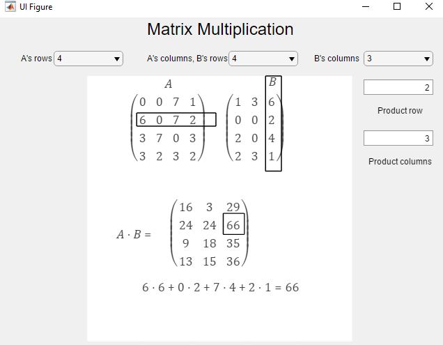 Matrix Multiplication App - File Exchange - MATLAB Central