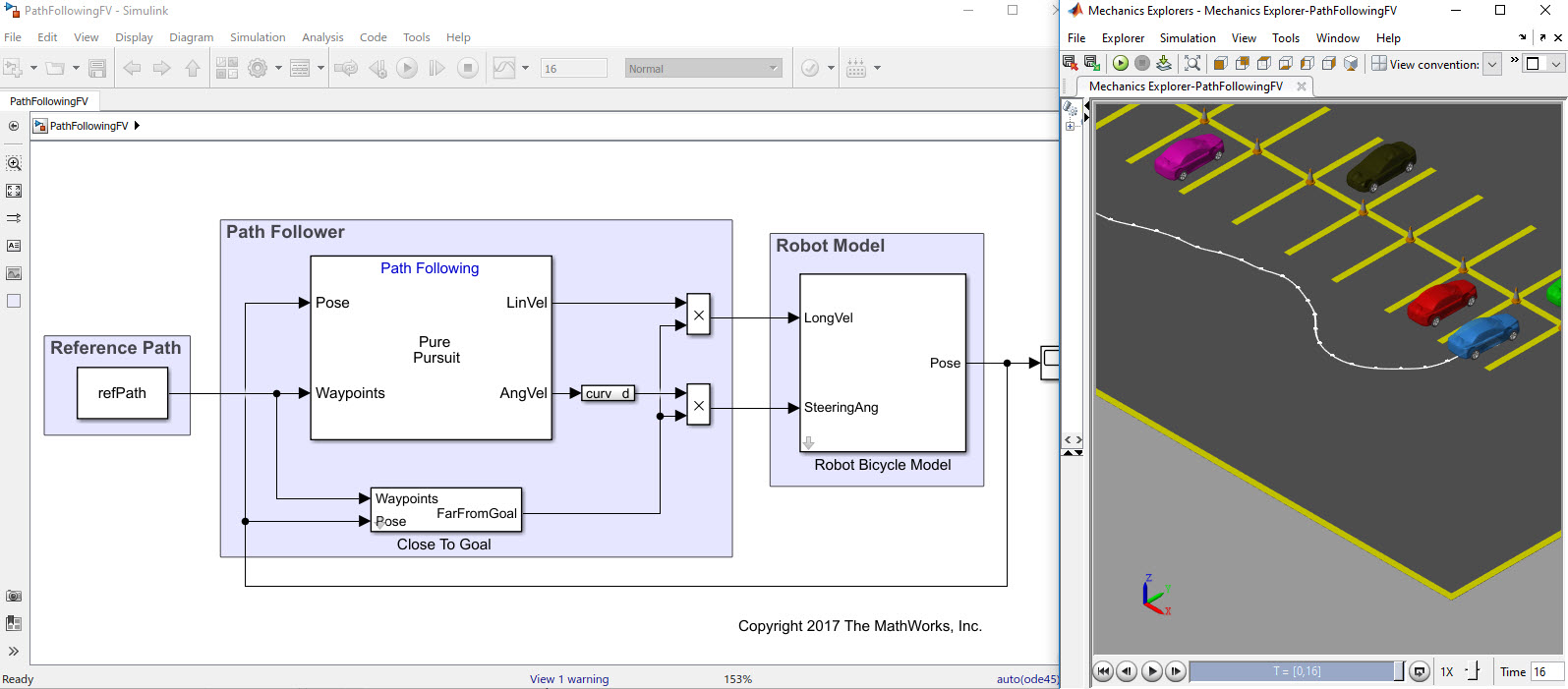 Path Following Using MATLAB and Simulink - File Exchange