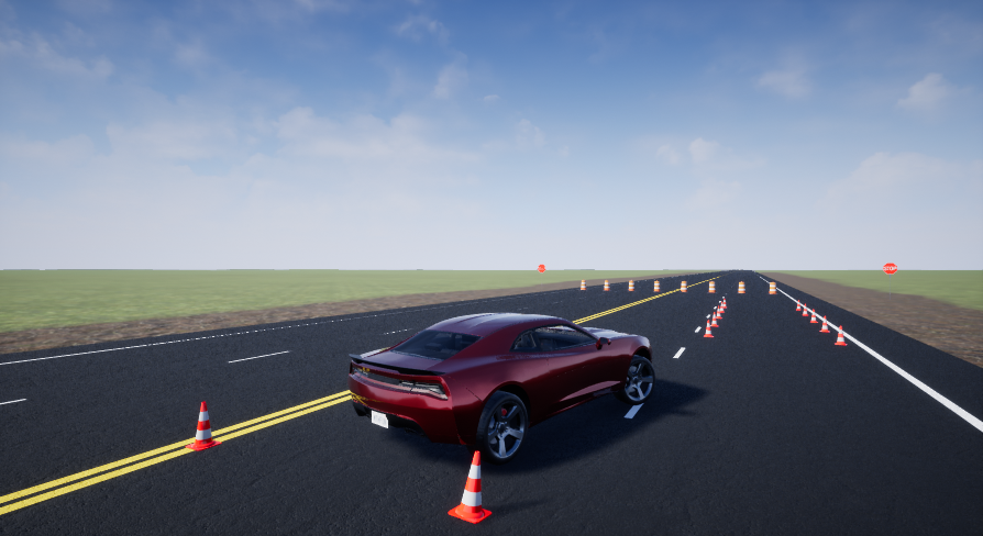 Vehicle Dynamics Blockset Interface for Unreal Engine 4