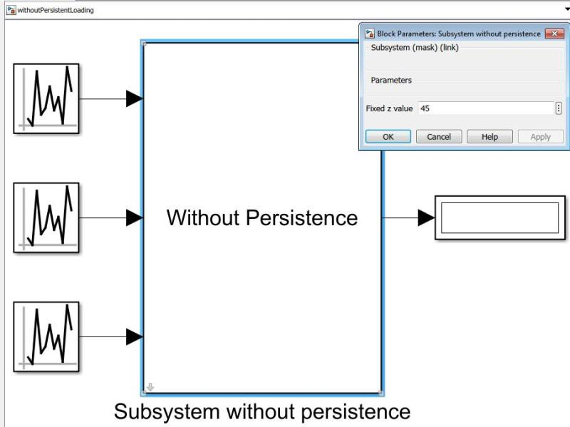 Persistent Data for Lookup Tables in Simulink