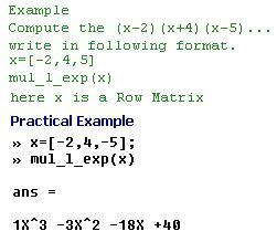 Multiplication of Linear Expressions - File Exchange - MATLAB Central