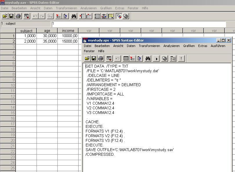 save4spss - File Exchange - MATLAB Central