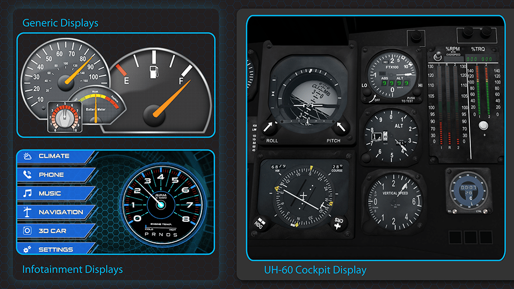 GL Studio - Transition high-end graphical displays from