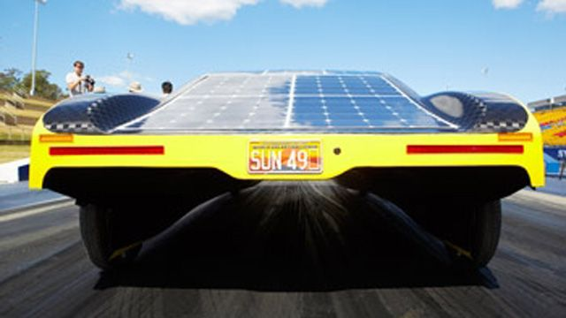 Students used MATLAB models to optimize battery usage of the Sunswift eVe solar electric car.