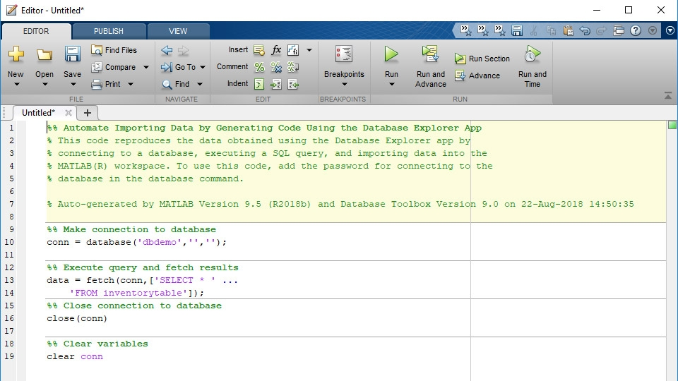 Database Toolbox - MATLAB