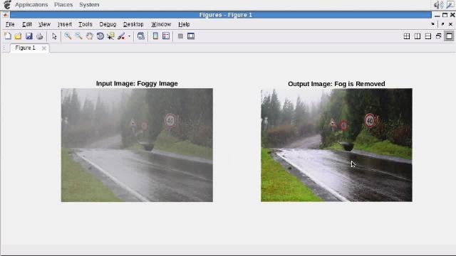 Use GPU Coder to generate CUDA code from a fog rectification algorithm written in MATLAB.