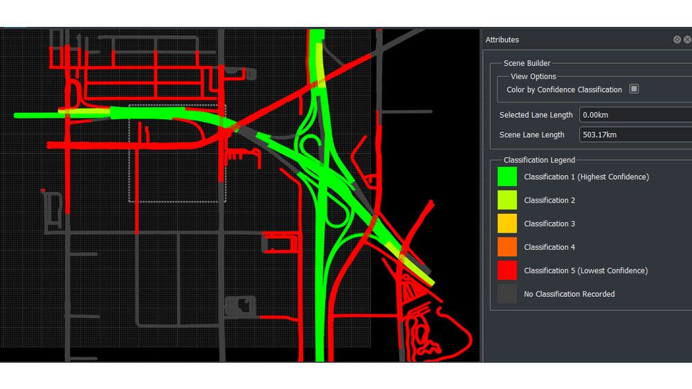 Visualize imported road data from HERE HDLM.