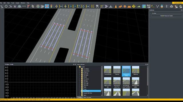 Learn how to create custom junctions in RoadRunner using the Custom Junction tool.