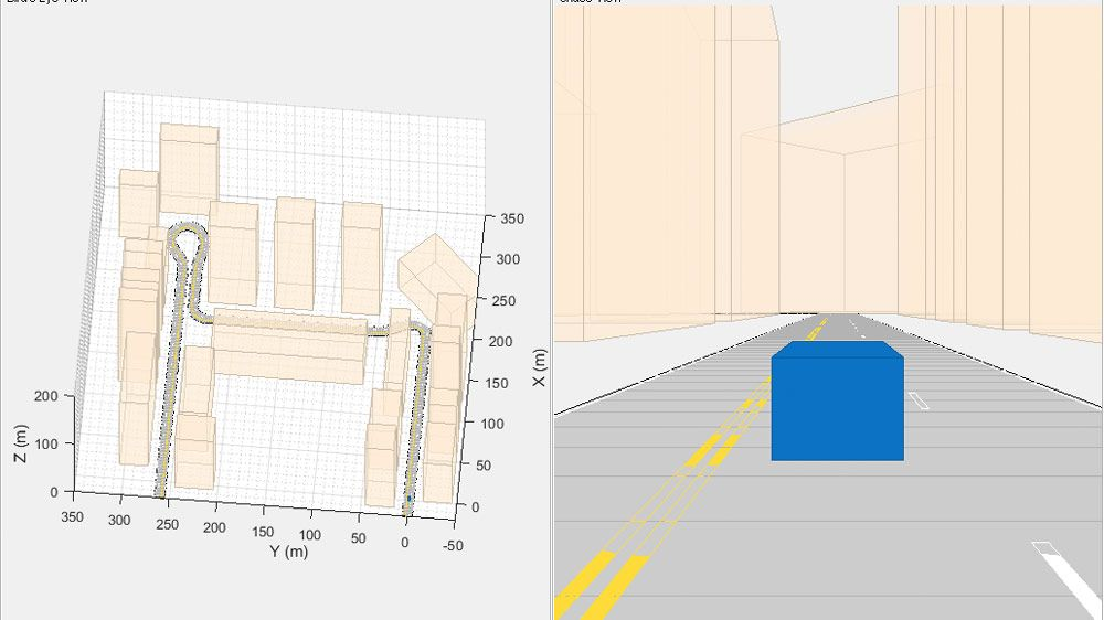 Localization of an ego-vehicle using visual-inertial odometry in a GPS-denied environment.