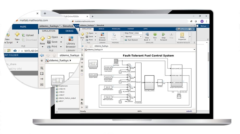 Access Simulink from Your Web Browser