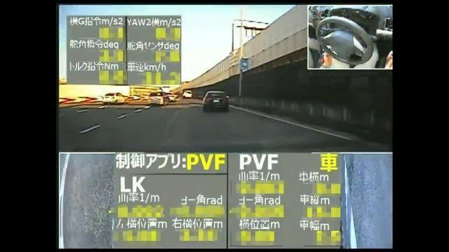 Testing the ACC algorithm using model predictive control on a public road.