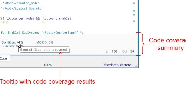 Code Coverage for Models in Software-in-the-Loop (SIL) and Processor-in-the-Loop (PIL)