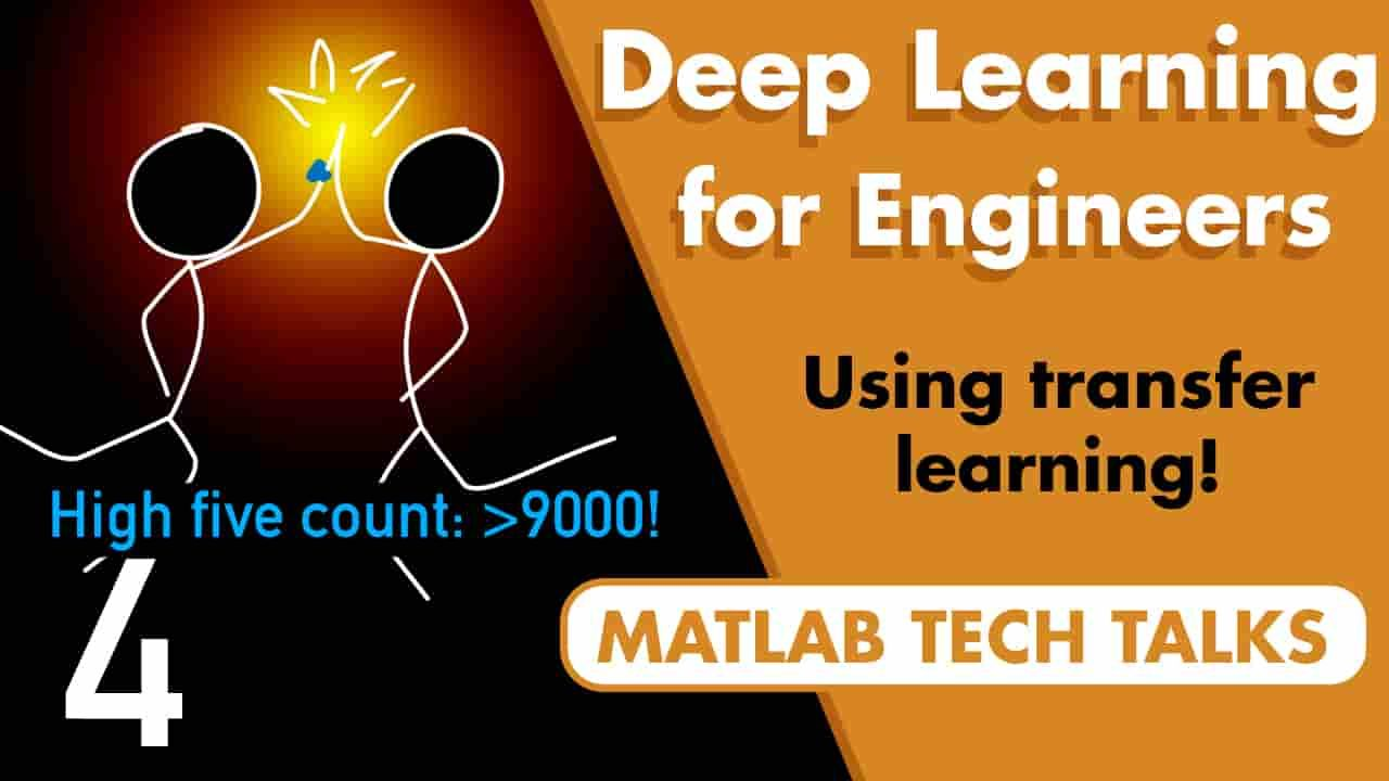 This video uses a transfer learning example that shows you how to develop a network that can recognize high five motions in acceleration data.