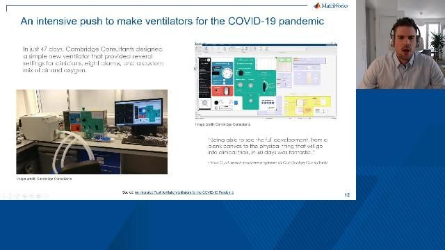 Watch this webinar to learn how engineers can improve the product quality of medical devices and reduce development time using Model-Based Design.