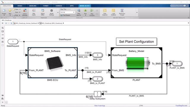 Learn how to use Simulink to model and test components and subsystems of a battery management system (BMS).