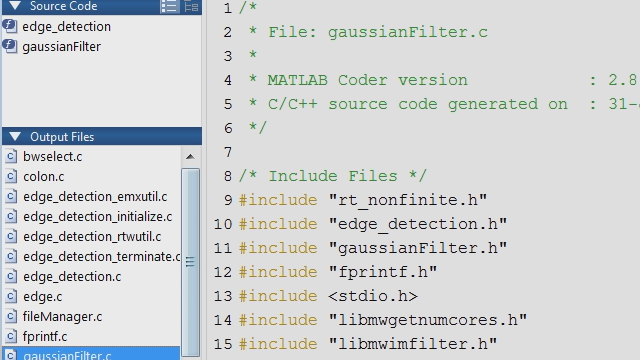 Use MATLAB when developing new algorithms to generate C/C++ code that integrates and leverages existing code bases.