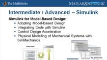 The MathWorks offers introductory and intermediate courses in MATLAB, Simulink, Stateflow, and Real-Time Workshop, as well as advanced training in specialised applications, such as signal processing, control design, and financial analysis. Trainers,