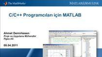 Bu internet semineri ile, C/C++ uygulamalarının geliştirilmesinde ve hataların ayıklanmasında MATLAB'den nasıl faydalacağınızı öğrenebileceksiniz.MATLAB'in öntanımlı çizdirme fonksiyonları ile verileri görselleştirebilir ve güvenilir matematiksel fon