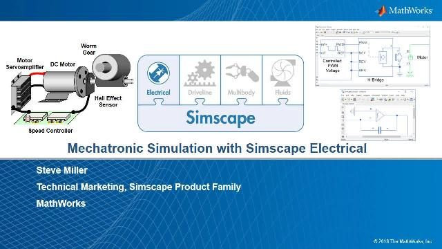 Introduction to Simscape Electrical™ for mechatronic simulation. An aileron with electronic actuation is used for system level analysis, control design, and HIL testing.