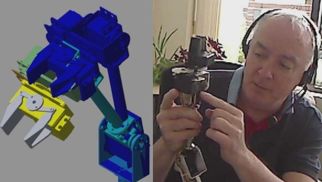 Create a plant model that simulates the mechanics and electronics of a robotic assembly.