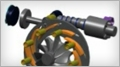 This presentation describes Honeywell's work developing a system simulation model of an electrohydraulic actuator for a variable nozzle turbine (VNT) turbocharger. This actuator provides force to the linkage that moves several airfoil-shaped vanes, t